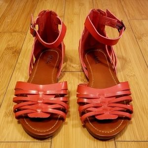 MIA Woven Design Buckle Detailed Sandals